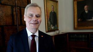 Hallitustunnustelija Antti Rinne.