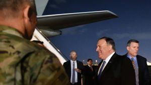 Yhdysvaltain ulkoministeri Mike Pompeo teki pikavisiitin Bagdadiin tiistaina.