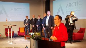 Peter Vesterbacka puhuu Arctic Business Forumissa 9. toukokuuta.