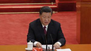 Presidentti Xi Jinping puhui Pekingissä.
