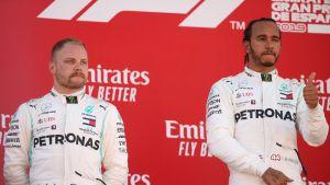 Valtteri Bottas, Lewis Hamilton, Barcelona 2019