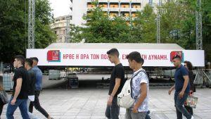 Nuorista iso osa ei tiedä mitä puoluetta äänestää EU- ja paikallisvaaleissa. Vasemmistolainen Syriza ei ole enää samassa suosiossa kuin vuoden 2015 parlamenttivaaleissa.