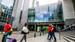 EU-parlamentin rakennus Brysselissä.