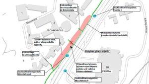 Savilahden alueen rakennustyöt vaikuttavat liikennejärjestelyihin Neulamäentien ja Neulaniementien välillä.