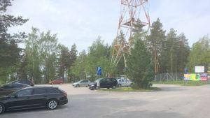 Pysäköintialue Lahden Radiomäellä