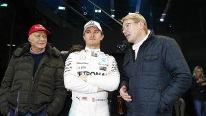 Niki Lauda Nico Rosberg Mika Häkkinen
