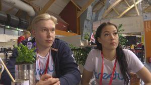 Johannes Koivunen ja Noora Linden.