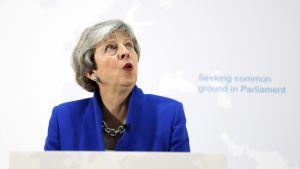 Britannian pääministeri Theresa May 21. toukokuuta Lontoossa .