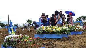 Vuoden 2017 vankilakapinan uhreja haudattiin tammikuussa 2017 Manosissa Brasiliassa.