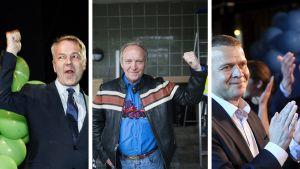 Pekka Haavisto, Teuvo Hakkarainen, Petteri Orpo