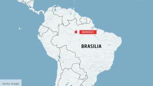 Kartta Brasilia Manaus.