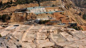 Kiinan Jiangzin maakunnassa sijaitseva kaivos, josta louhitaan maametalleja.