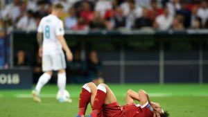 Mo Salah joutui jättämään kentän viime vuoden finaalissa jo varhain.