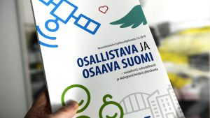 """Hallitusohjelman neuvottelutulos nimeltään """"Osallistava ja osaava Suomi - sosiaalisesti, taloudellisesti ja ekologisesti kestävä yhteiskunta"""""""