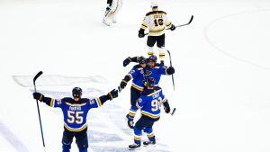 St. Louis Blues voitti Boston Bruinsin neljännessä Stanley Cupin finaalissa keväällä 2019.