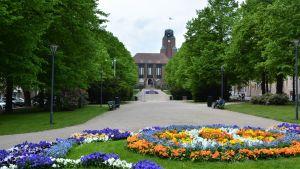 Lahden kaupungintalon puisto