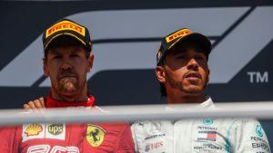 Sebastian Vettel, Lewis Hamilton, Montreal 2019