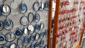 Uimhallin pukukaapin avaimet