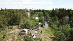 Kitsat-satelliitin laukaisu Tuorlassa.