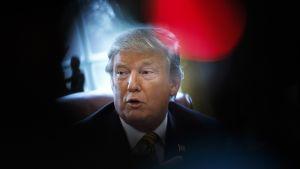 Donald Trump työhuoneessaan.