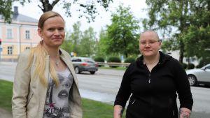 Aurora Känsäkangas ja Saana Lind.