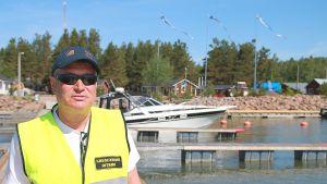 Simo Rosenblad, Kaunissaaren satamakapteeni, Pyhtää, itäinen Suomenlahti