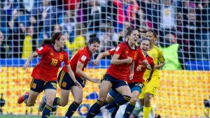 Espanjan joukkue naisten MM-kisoissa 2019.
