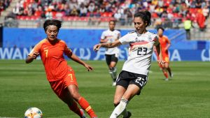 Kiina ja Saksa naisten MM-kisoissa 2019.