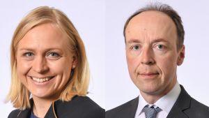 Elina Lepomäki ja Jussi Halla-aho