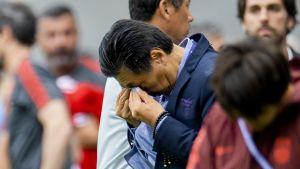 Jia Xiuquan oli liikuttunut joukkueensa jatkopaikasta MM-kisoissa.