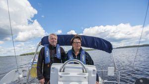 Pentti ja Pirjo-Riitta Kinnunen ovat veneilleet lähes 30 vuotta.