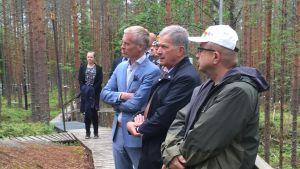 Sauli Niinistö Hyytiälän asemalla.