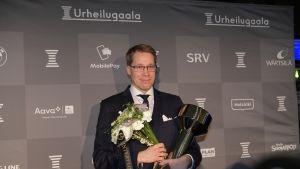 Olli Ohtonen pokkasi Vuoden valmentaja -palkinnon Urheilugaalassa tammikuussa 2018.