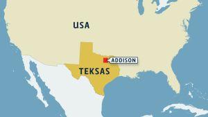 Teksas kartalla.