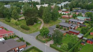 Kuvassa asuinalue