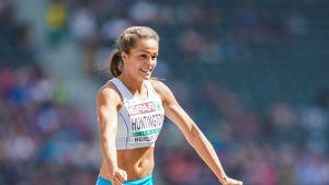 Maria Huntington edusti Suomea aikuisten arvokisoissa ensimmäistä kertaa Berliinin EM-kisoissa 2018.