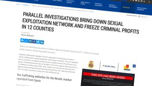 Kuvakaappaus Europolin nettisivusta.