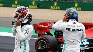 Lewis Hamilton ja Valtteri Bottas lähtevät Silverstonen osakilpailuun rinta rinnan.