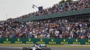 Valtteri Bottas Silverstonen aika-ajoissa lauantaina.