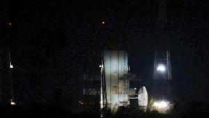 Raketti Satish Dhawan -avaruuskeskuksessa.