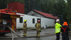 Salolaisen Virtasen Valimon kattorakenteiden palo saatiin nopeasti rajattua.