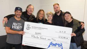 Rock-yhtye Metallica lahjoitti 55 000 euroa vähävaraisten lasten harrastustoimintaan.
