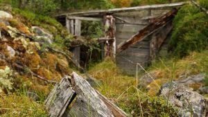 Sturmbock korsu sekä pystyssä oleva kamiinan piipun suoja