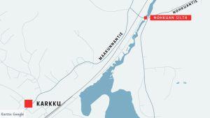 Karttagrafiikka, Nohkuan silta Sastamalassa