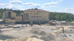 Kivimaan koulun remonttityömaa