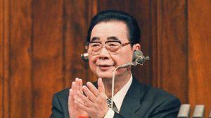 Kiinan entinen pääministeri Li Peng.