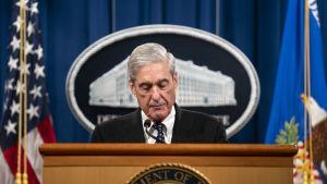 Erikoissyyttäjä Robert Mueller puhui Venäjä-tutkinnasta oikeusministeriössä toukokuun lopussa. Kyseessä oli ensimmäinen kerta, kun hän puhui julkisesti tutkinnastaan.