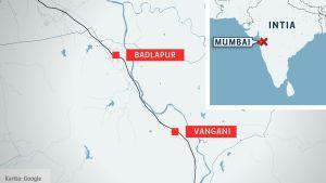 Kartta Intiasta.