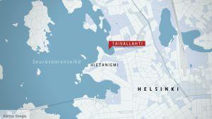 Kartta Helsingistä.
