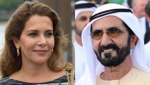 Kuvakollaasi prinsessa Hayasta ja sheikki Muhammad al-Maktoumista.
